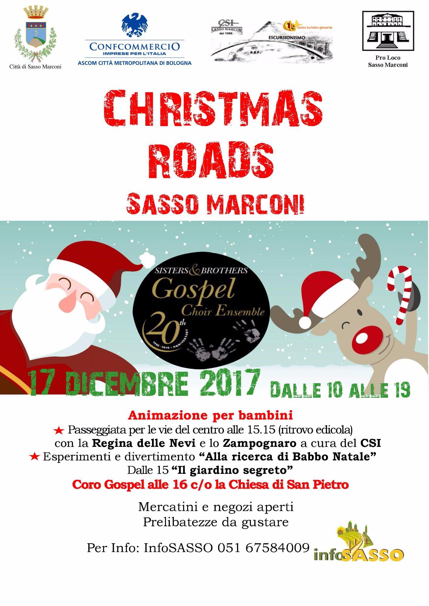 Christmas Roads -La magia del Natale per le vie di Sasso Marconi