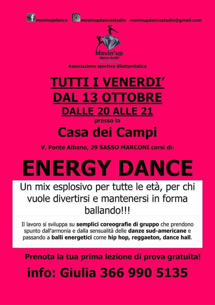 ENERGY DANCE a partire dal 13 Ottobre