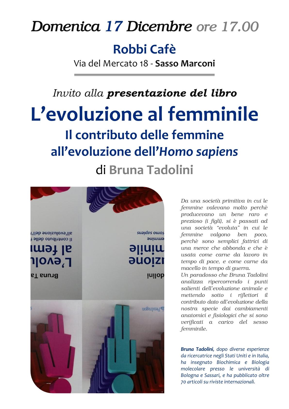 Invito alla presentazione del libroL'evoluzione al femminile