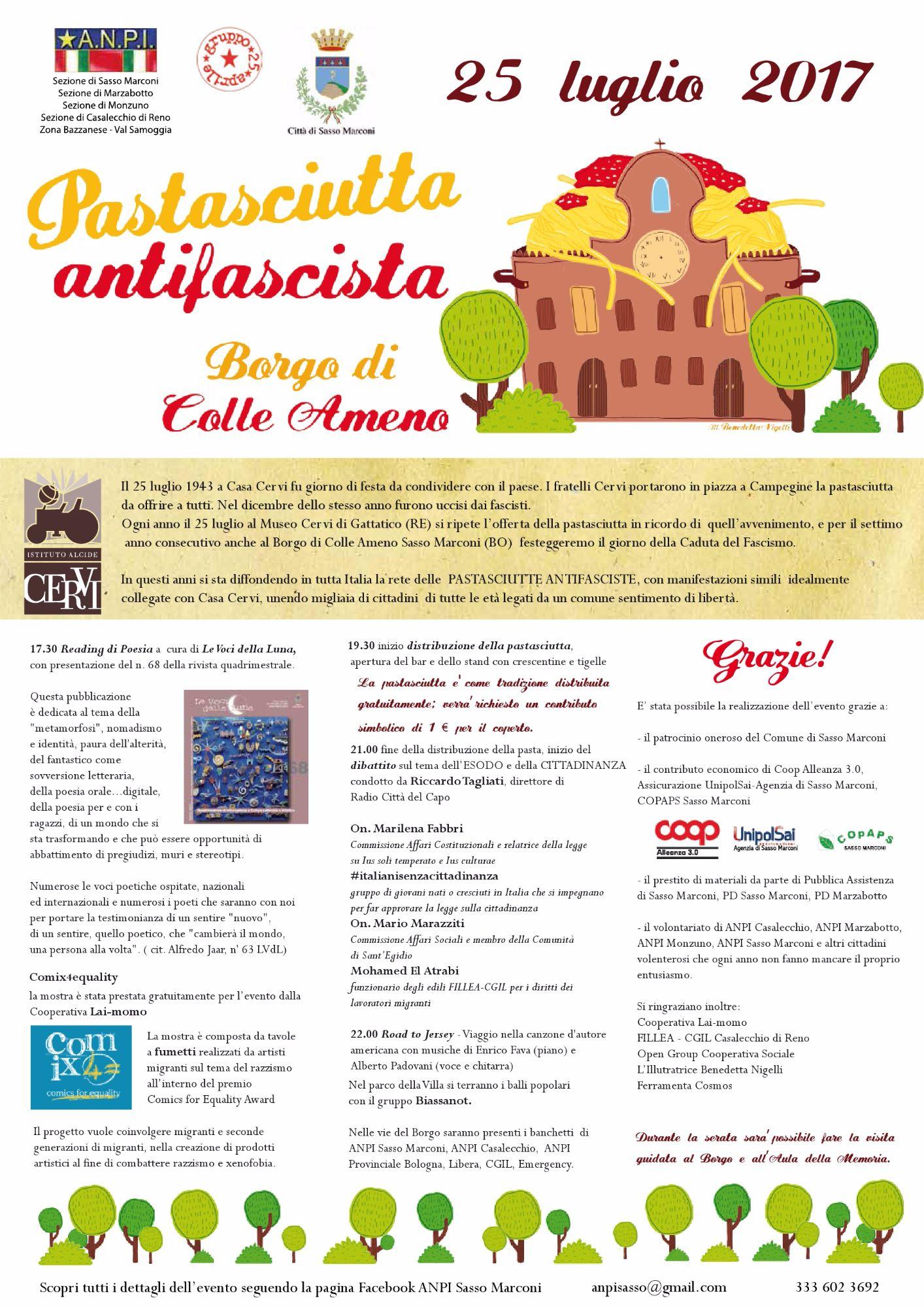 Pastasciutta antifascista al Borgo di Colle Ameno