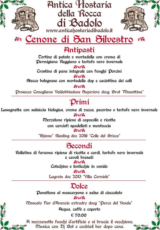 Antica Hostaria della Rocca di Badolo- Cenone di S. Silvestro