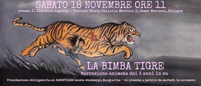 La bimba Tigre -Spettacolo per bambini al Giardino Segreto