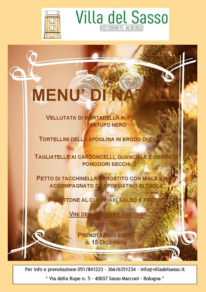 Menù di Natale alla Villa del Sasso