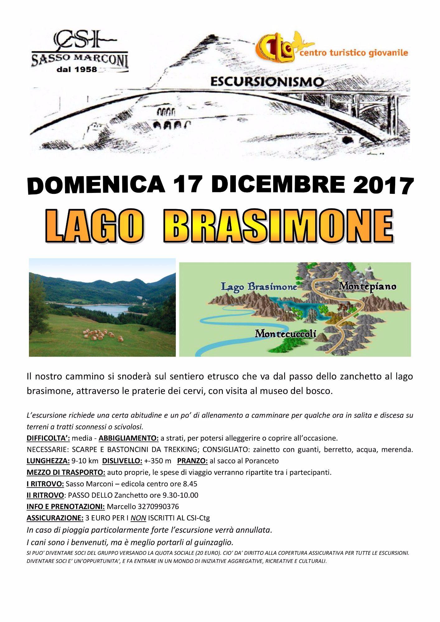 Escursione Lago Brasimone