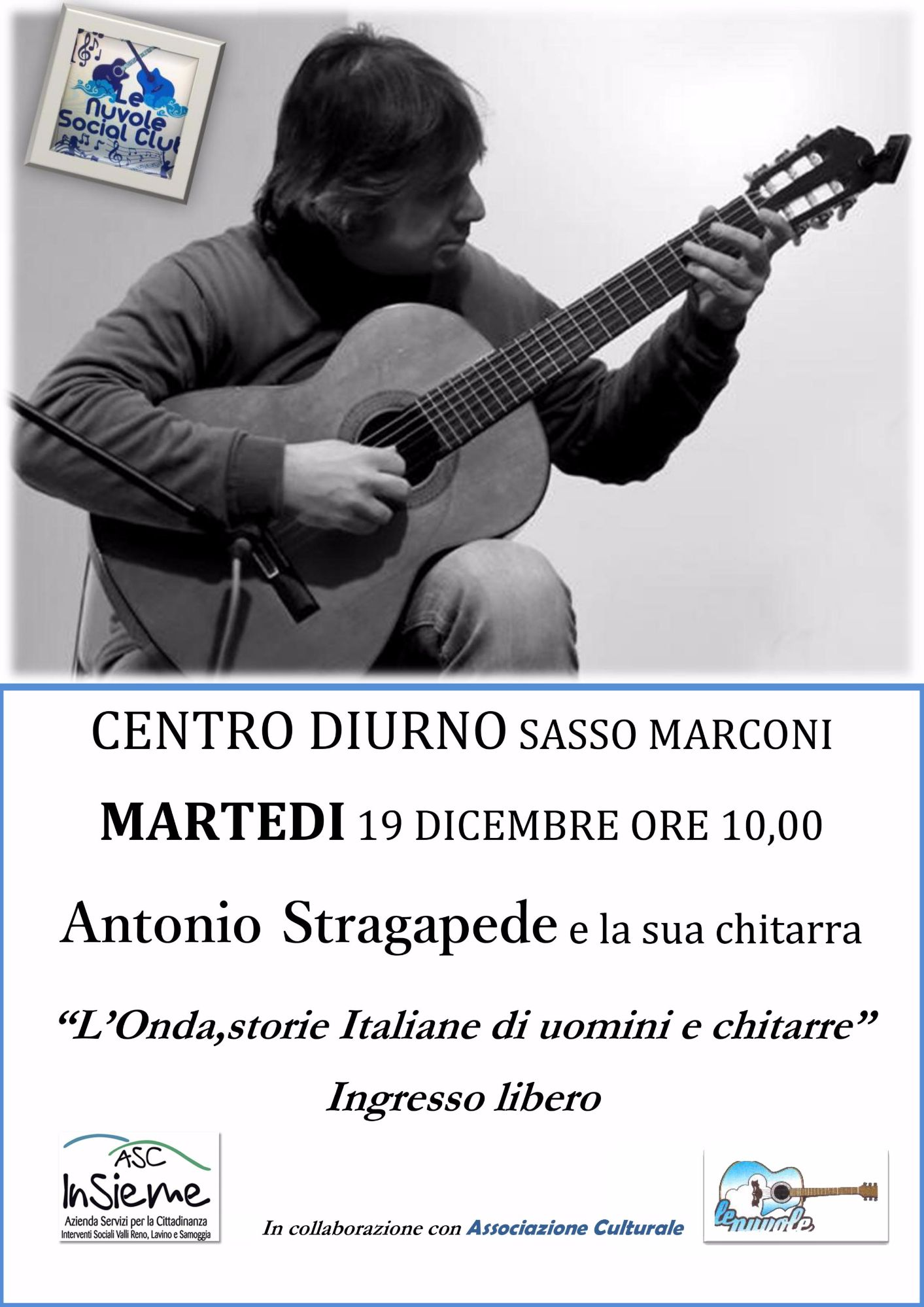Antonio Stragapede e la sua chitarra