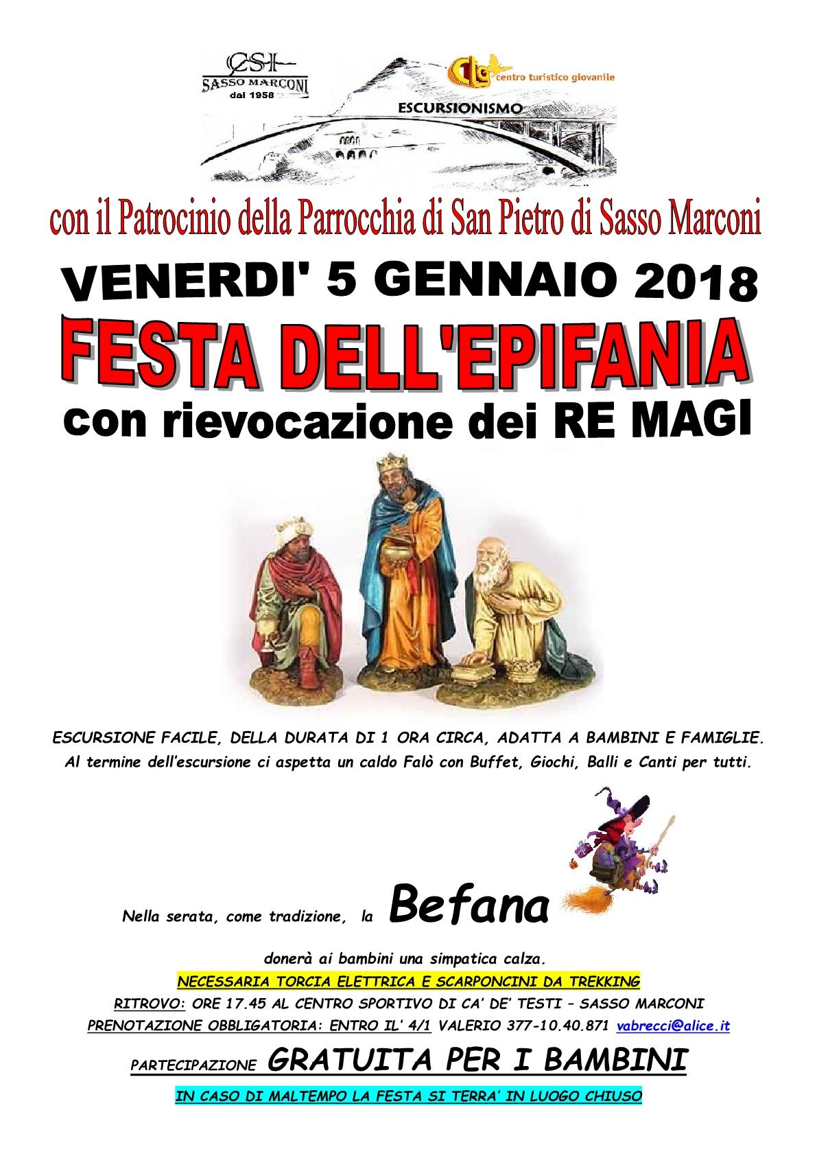 FESTA DELL'EPIFANIA CON RIEVOCAZIONE DEI RE MAGGI
