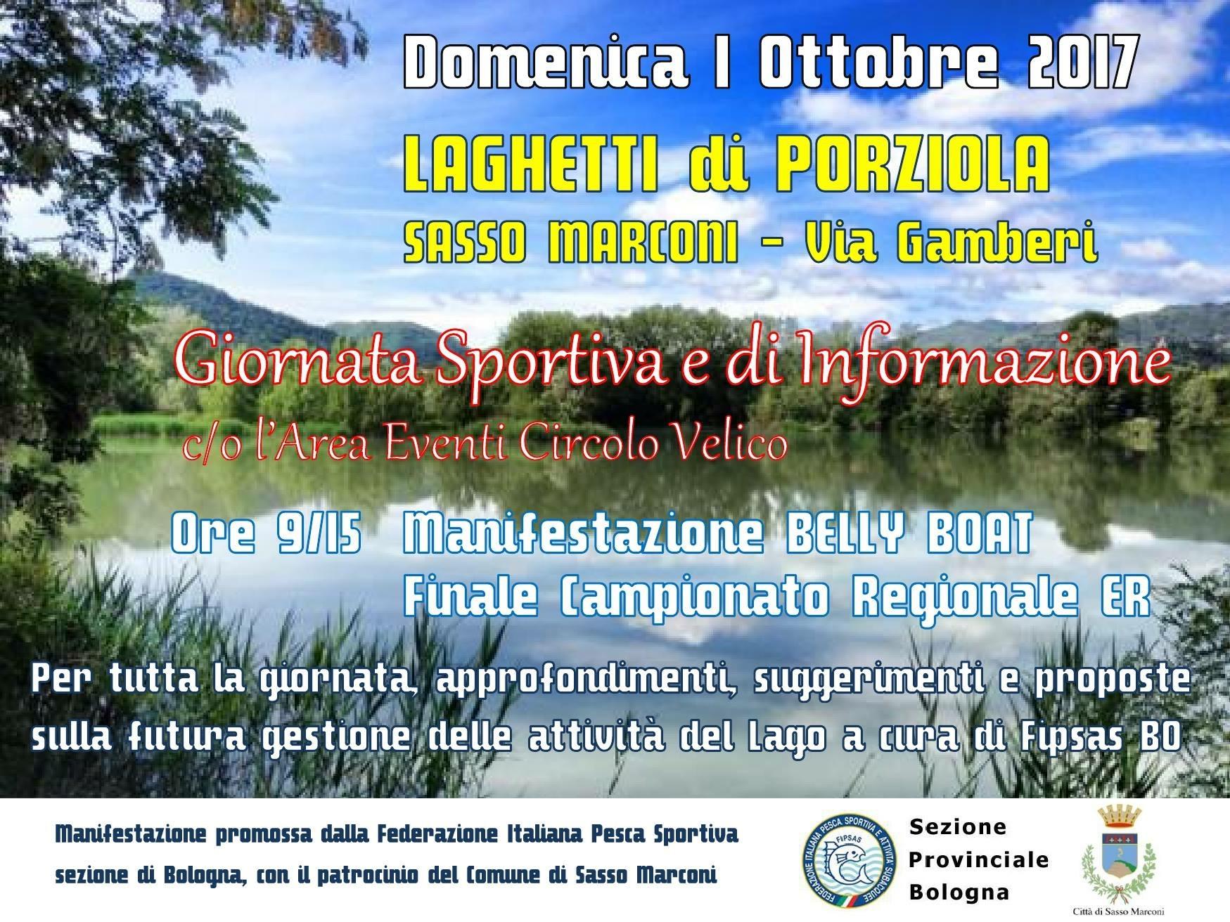 Domenica 1 Ottobre- giornata Sportiva e di informazione presso i Laghetti di Porzola